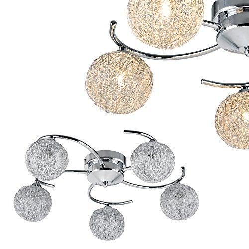[lux.pro] Deckenleuchte  Deckenlampe - Metal Globe  Modernes Design - 5 x G9 Sockel - Verführerisch Natürliche Licht