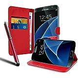 Housse Etui Coque Portefeuille en Cuir Rouge Pour Samsung Galaxy A3 (2016) + STYLET OFFERT !