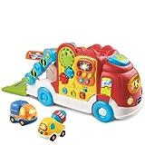 VTech Baby 80-136604 - Tut Tut Baby Flitzer-Autotransporter und Inklusive einem Tut Tut Baby Flitzer Lastwagen und Zementmischer