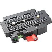 Andoer® Quick Release Morsetto Adattatore + Rilascio Rapido Piastra P200 Compatibile per Manfrotto 501 500AH 701HDV 503HDV Q5