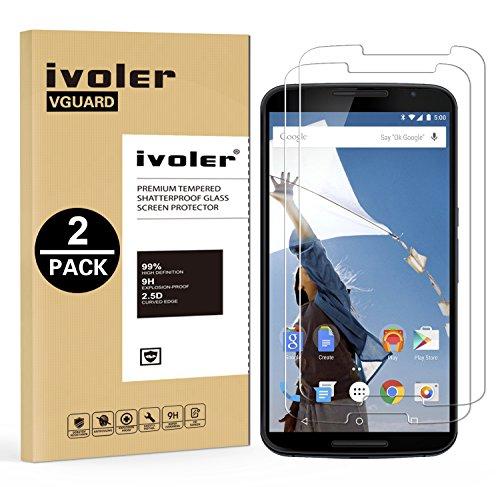 Ivoler [2 pack] pellicola vetro temperato per motorola google nexus 6 [garanzia a vita], pellicola protettiva, protezione per schermo