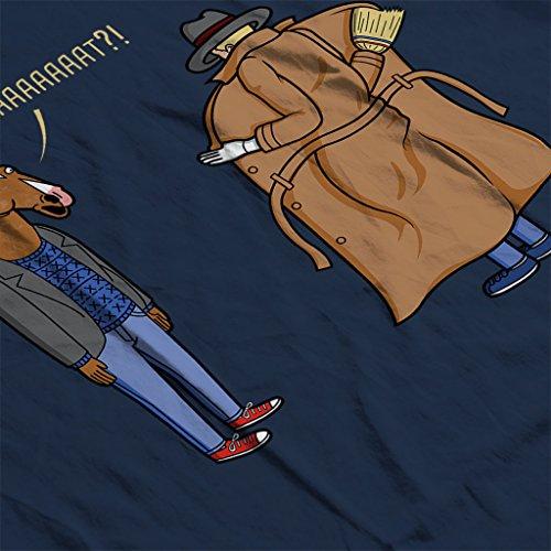 Trench Coat BoJack Horseman Womens Sweatshirt Navy blue