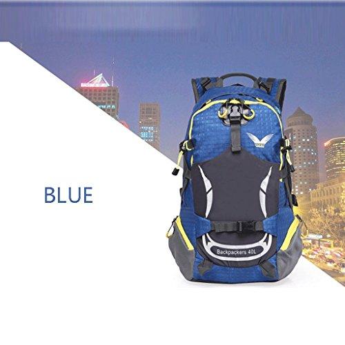 Pathfinder Pioneer 2016 nuove grandi capacità all'aperto borsa sportiva di corsa della spalla impermeabile uomini e donne alpinismo borse borsa blu