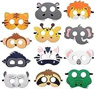 THEWHITESHOP Jungle Party Decorations Safari Jungle Animal Felt Masks Wild Animal Theme Birthday Party Favors