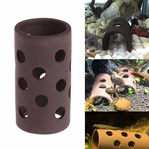 Lottoy® Aquarium Versteckt Rohr Zucht Hiding Cave Shelter mit Löchern Für Fisch Garnelen Pflanze Aquarium Dekoration (2)