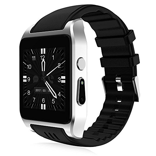 Verizon Bluetooth Video (OOXLF 3G intelligente Uhr Android 5.1 Betriebssystem WiFi Sport Fitness Armbanduhr 2MP Kamera mit SMS-Anrufbenachrichtigung , gray)