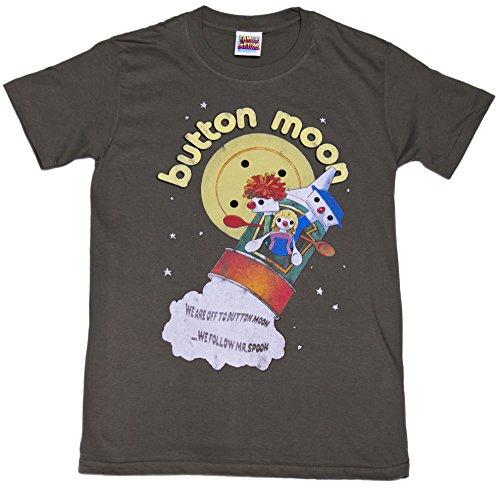 TruffleShuffle Mens were Off to Button Moon T Shirt