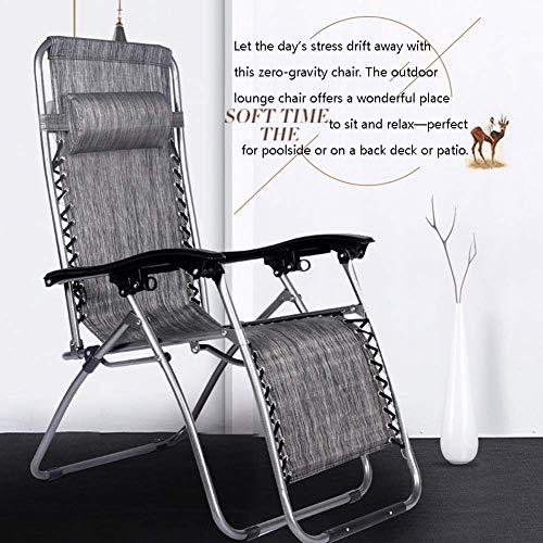 IG Haushalt Dual Use Set von 2 Patio Schwerelosigkeit Stuhl für Heavy Duty People, Outdoor Lounge Stühle mit Kissen Folding Recliner für Deck Beach Yard, Unterstützung 250Kg