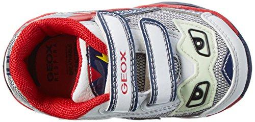 Geox B Todo A, Chaussures Bébé marche bébé garçon Argent (White/silverc0007)