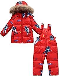 Zoerea Tuta da Sci per Bambino Unisex Set Tute Completo da Neve 2 Pezzi  Snowsuit Caldo 6bfbfb894d1