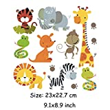 #7: iDream Iron on Patches Animal, Iron Embroidery Appliqué Decoration DIY Patch for Jeans Clothing etc (Theme A)