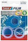 tesafilm Mini Abroller pink, blau oder gelb mit 2 x kristall klar Rollen, 10m:19mm