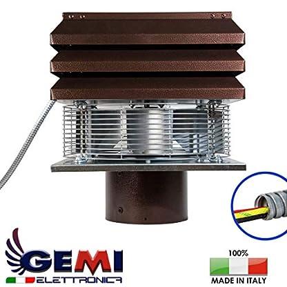 Gemi – Aspirador, extractor de humo, extractor de humos para chimenea, modelo Base, modelo redondo de 20 cm