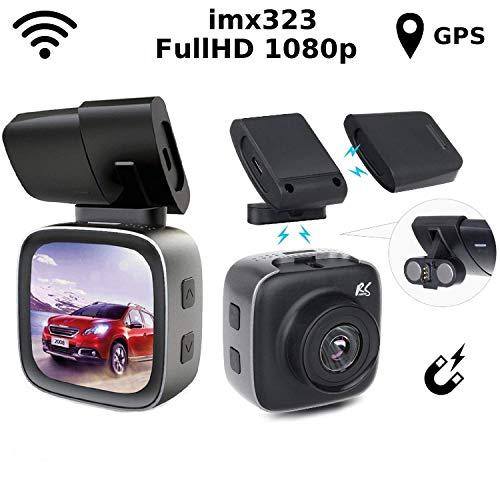 "NanoRS RS200 Auto Kamera Dashcamera mit Magnethalterung Recorder Dashcam GPS Sony Sensor WiFi Full HD 150° G-Sensor Bildwinkel 1,54\"" IPS (Dashcamera)"