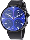 Meccaniche Veloci Quattro Valvole Limited Edition Men's Automatic Watch with Blue Dial Chronograph Display and Black Rubber Strap W123K272496025