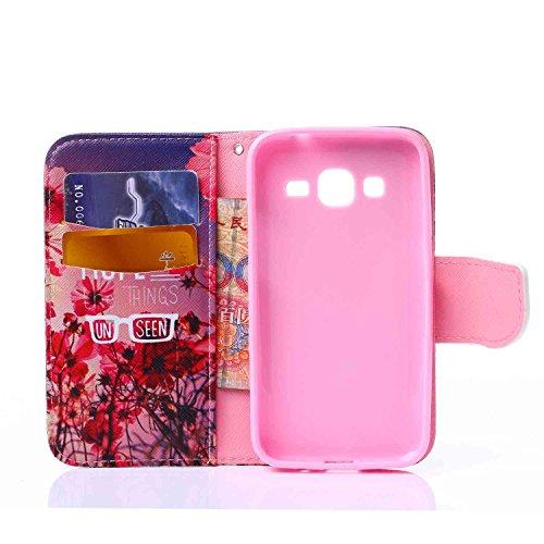 Guran® PU Leder Tasche für Apple iPhone SE / iPhone 5/5S (4 Zoll) Smartphone Flip Deckung Stehen Funktion und Karte Slot Case-Blau und weiß color1