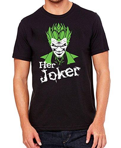 Joker T-shirt - Her Joker Halloween Fancy Dress Couple T shirts - Halloween costume