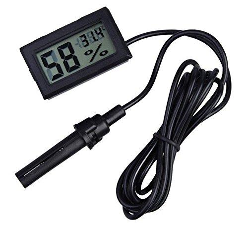 Hensych -50~ 70°C 10% ~ 99% RH LCD Digital termómetro higrómetro Temperatura Medidor de humedad para incubadora Acuario reptil efecto invernadero