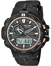 f71095ea4244 Casio De los hombres Pro Trek de cuarzo acero inoxidable y resina Reloj  Deportivo