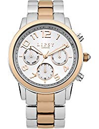 Lipsy Women's Quartz Watch with Silver Dial Analogue Display and Two Tone Alloy Bracelet LP130