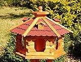 holzdekoladen Großes Vogelhaus aus Holz Typ 5 (rot)