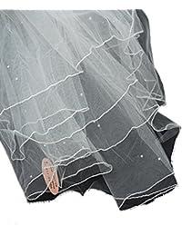 Gracieux voile de mariéee en tulle à 2 épaisseurs, parsemé de pierres de Strass. Produit offert par NYfashion101.