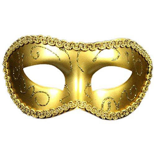 TOOGOOR-Masque-peint-Masque-de-Carnaval-Masque-de-la-Toussaint-Or