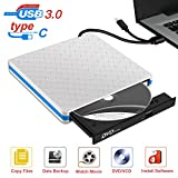 External DVD CD Drive with USB 3.0 and Type-C Interface, Portable USB CD-RW/DVD-RW