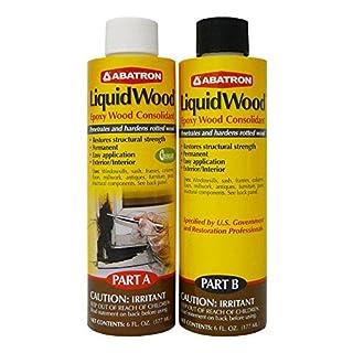 Abatron LiquidWood Kit Epoxy Wood Consolidant 6 oz each, Part A & B by Abatron