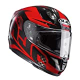 HJC Casque de Moto RPHA 11 CARBON LOWIN MC1, Noir/Rouge, Taille M