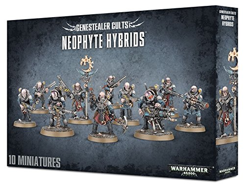 40k Games Workshop Warhammer 40,000 Genestealer Cults Neophyte Hybrids (10 figures)