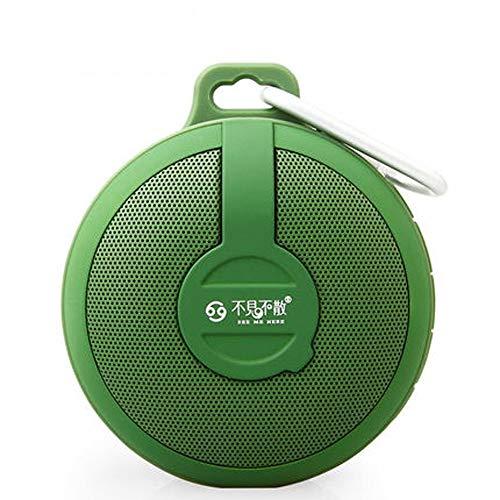 QYQ Drahtloser Bluetooth-Sprecher-im Freien tragbarer Mini Card Small Sound-Auto Subwoofer für Haus oder Reise (Farbe : Green)
