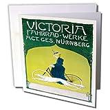 3drose Victoria fahrrad-werke nurnbert Fahrrad Werbung Poster–Grußkarten, 6by Foto, 6Stück (GC 153201_ 1)