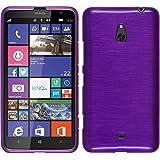 Funda de silicona para Nokia Lumia 1320 - brushed púrpura - Cover PhoneNatic Cubierta + protector de pantalla