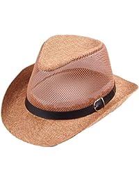 Cosechadoras Sombrero De Paja Hombres Mujeres Sombrero para El Tamaños  Cómodos Sol Protección Solar Sombrero Unisex Panamá… 76e994bc5e5