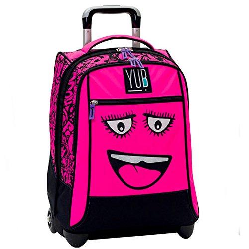 Zaino trolley yub svalvolati originale seven nuova collezione 2017 scuola colore rosa linguaccia girl ragazze pink