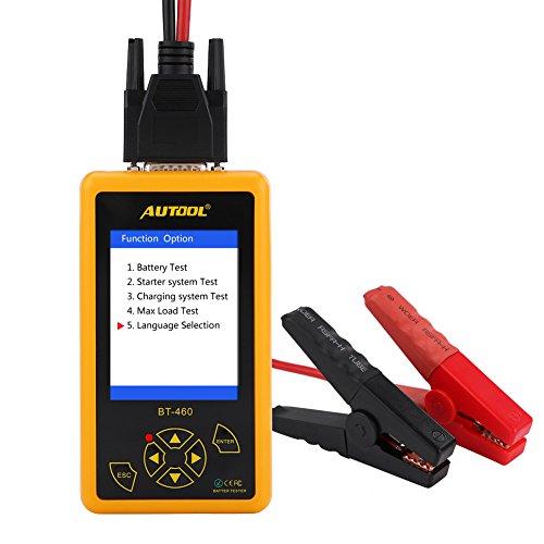 Keenso 4 Zoll Autobatterie Prüfvorrichtungs Analysator Multifunktionsbatterie-Prüfvorrichtung TFT bunte Anzeigen-Test-Batterie/pneumatisches System/Ladesystem / maximale Last für 12V Fahrzeug 24V