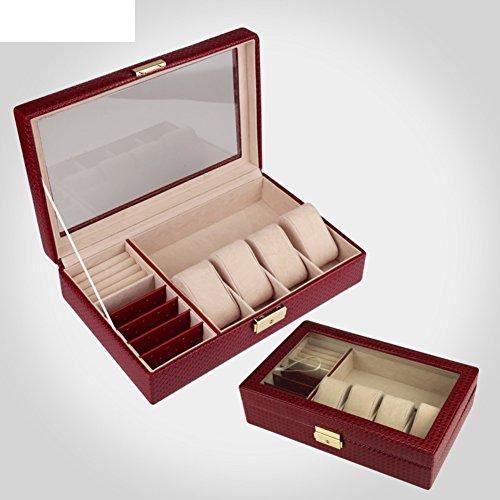 Knitting-grano cuoio portagioie/ jewel box/ scatola di cuoio orologio/ regalo di compleanno-B