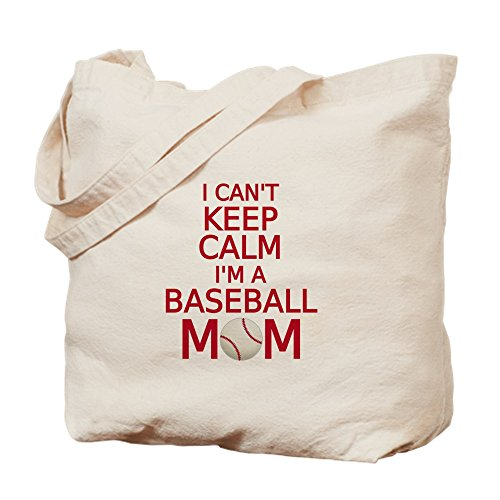 CafePress Tragetasche mit Aufschrift I Can't Keep Calm, I Am A Baseball Mom, Canvas, Khaki, M