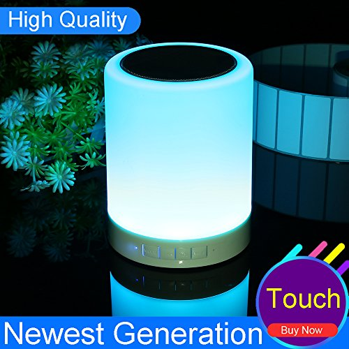 smart nightlight with bluetooth speaker and bedside lamp