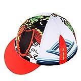HYSENM Radmütze Einheitsgröße Cap mit Kleinem Schirm Atmungsaktiv für Radsport Motorrad Kappe, Fisch