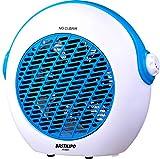 Bastilipo tvc-2000°C termoventilador-1000/2000W-tvc-2000°C-muy Silenzioso, Sistema di 7Pale, Funzione d' Aria Fresca per Estate, Dispositivo antiribaltamento, termostato regulable-Color, Blu, 1
