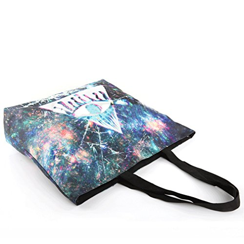 Belsen, Borsa a spalla donna multicolore Eye cat Taglia unica Triangle eyes