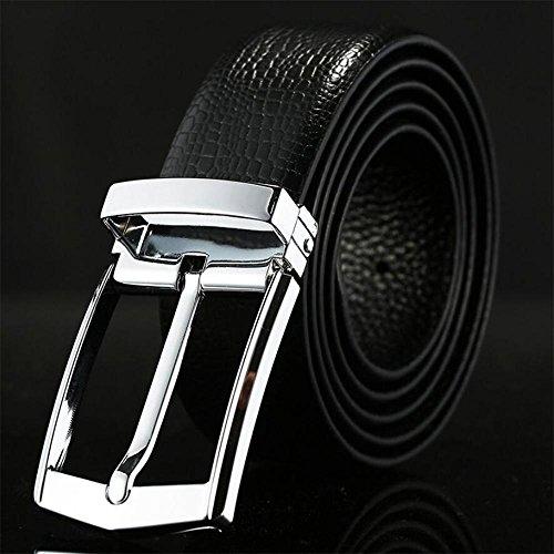 Weiche Ledergürtel Männer Hohe Qualität Designer Gürtel Für Männer Casual Echtem Leder Gürtelschnalle , C , 130cm (Designer-stil-gürtelschnalle)