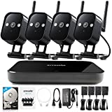 Zmodo Replay 1080p 4-Channel HDMI NVR Wireless WiFi Smart Home Surveillance Security Camera System w/ 4 True 720p HD Weatherproof Cameras w/ 1TB HDD Pre-installed