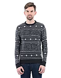 US Polo Mens Synthetic Sweater (8907378307156_USSW0610_X-Large_Black)