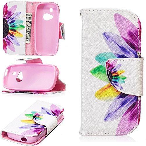 JARNING Compatibile con Nokia 3310 2017 Custodia Cover PU Pelle Pattern Wallet Protettiva Flip Case with Funzione Magnetica Chiusura (Fiore colorato)