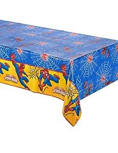 Procos 86672-Mantel de plástico Ultimate Spider Man Power, 120x 180cm, rojo/azul/amarillo