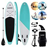 Triclicks Tabla Hinchable Paddle Surf/Sup Paddel Surf con Bomba, Mochila, Aleta Central Desprendible, Kit de Reparación,...