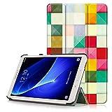 COLICO Samsung Galaxy Tab A 10.1 Hülle - mit Auto Schlaf/Wach Funktion, Leder Tasche Etui Schutzhülle für Samsung Galaxy Tab A 10.1 2016 T580/T585N (- Bunter Würfel)